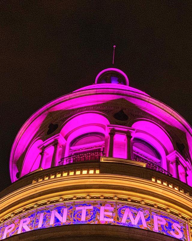 #glow #purple #printemps #grandsmagasins #printempshaussmann #nightwalk #summer #paris #france #photography