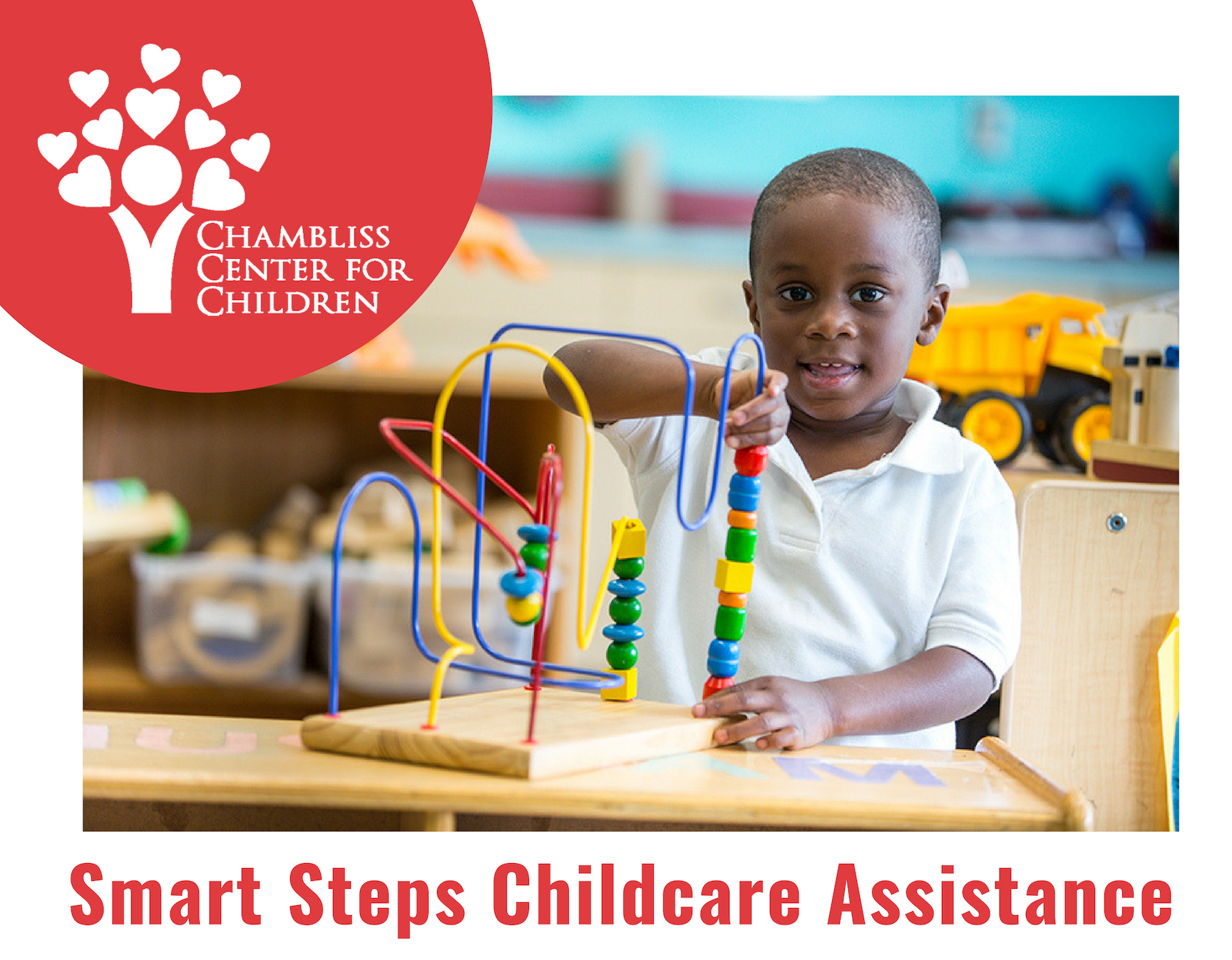 Smart Steps Child Care Assistance - Families who meet the income eligibility requirements must apply for Smart Steps, a child care payment assistance program for parents who are working or in school. Fill out the application and return to the local DHS office, located at 5600 Brainerd Road, Suite 602-A, 2nd Floor. Find more information HERE.