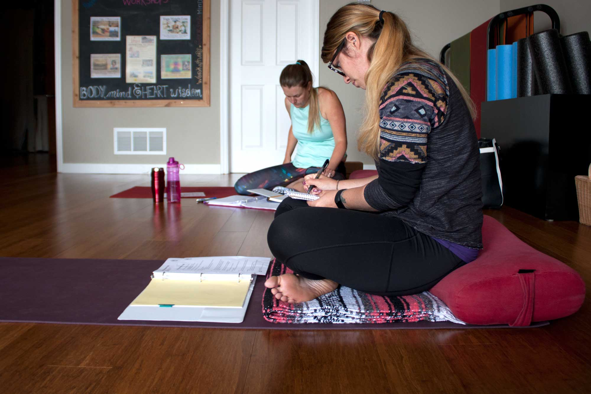 Yoga Teacher Training Students Study