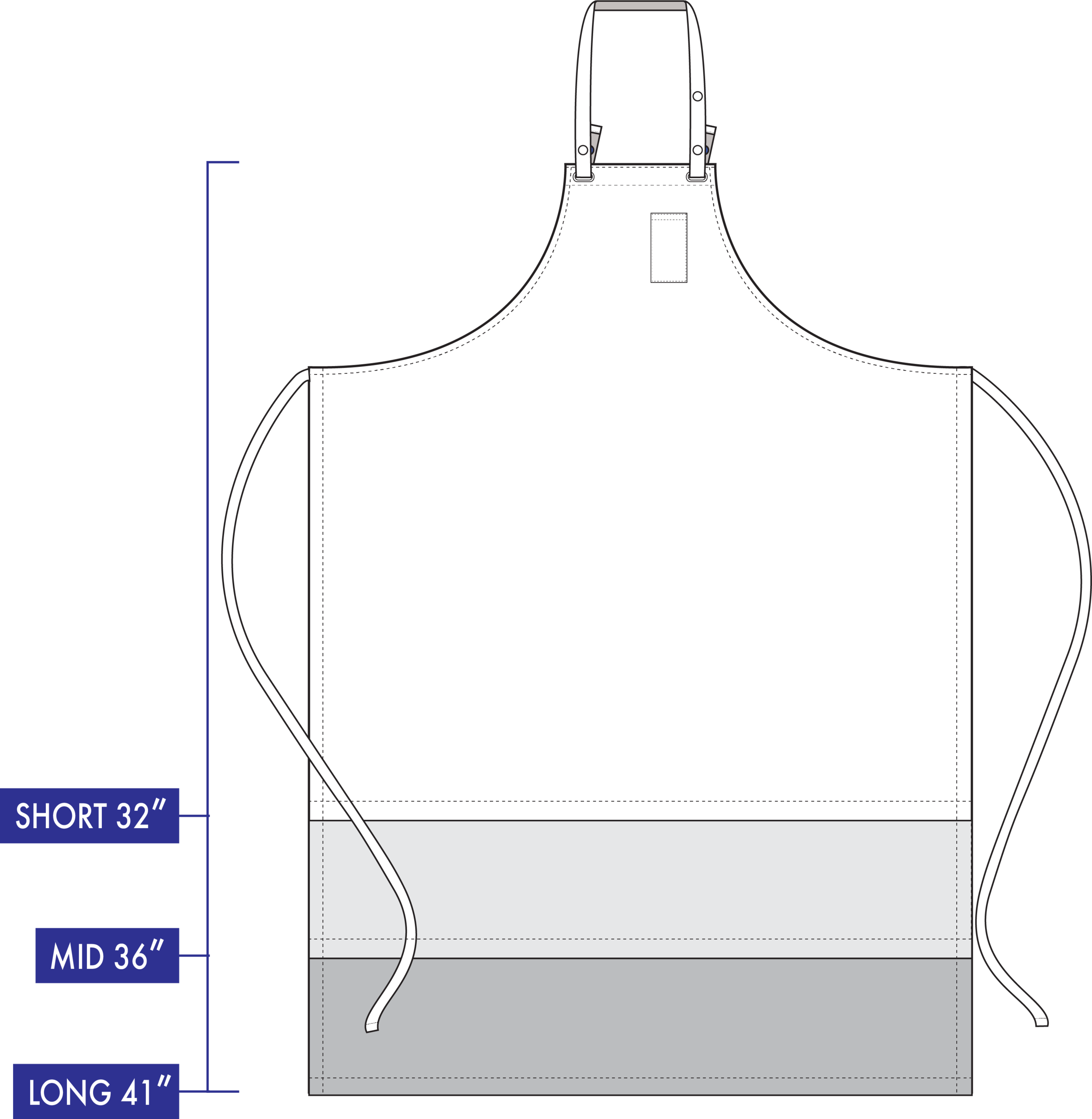 HIGH WAIST SPEC  for PX CHEF & All-DAY KITCHEN Aprons