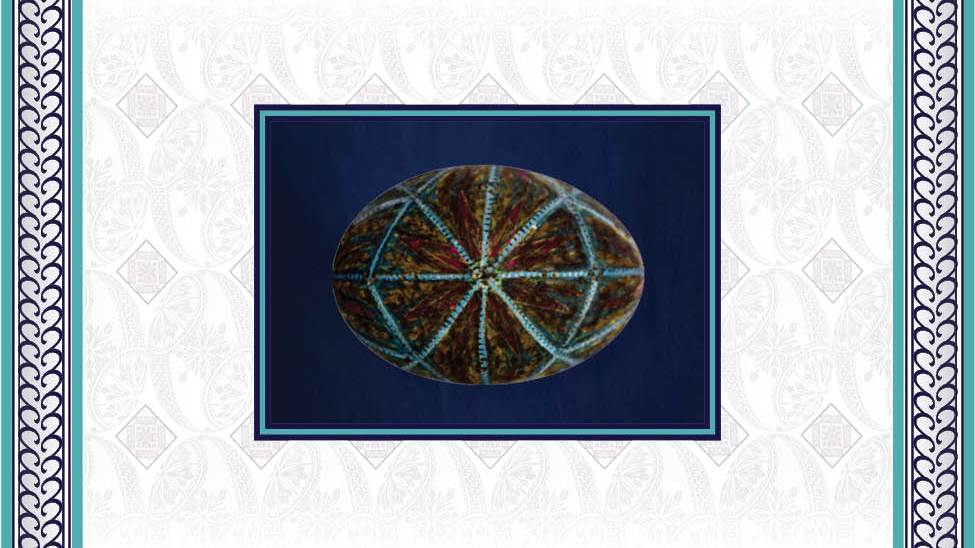 - Blue elements sealed by beeswax.