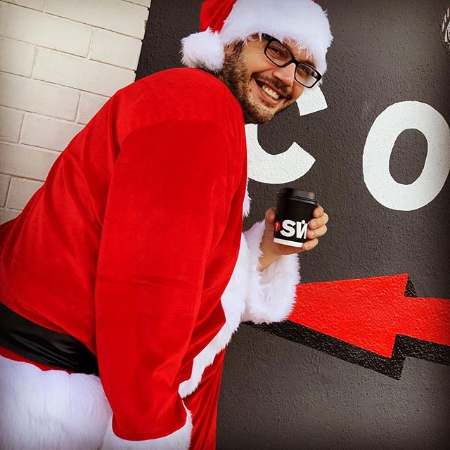 Merry Christmas. Santa is in the house! #coffee #lacolombe #latteart #eaglerock  #swork_coffee