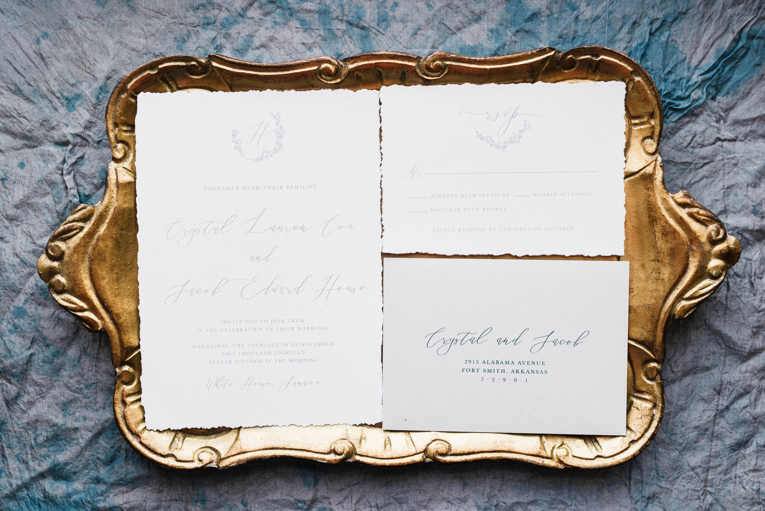 Organic Romantic wedding invitation