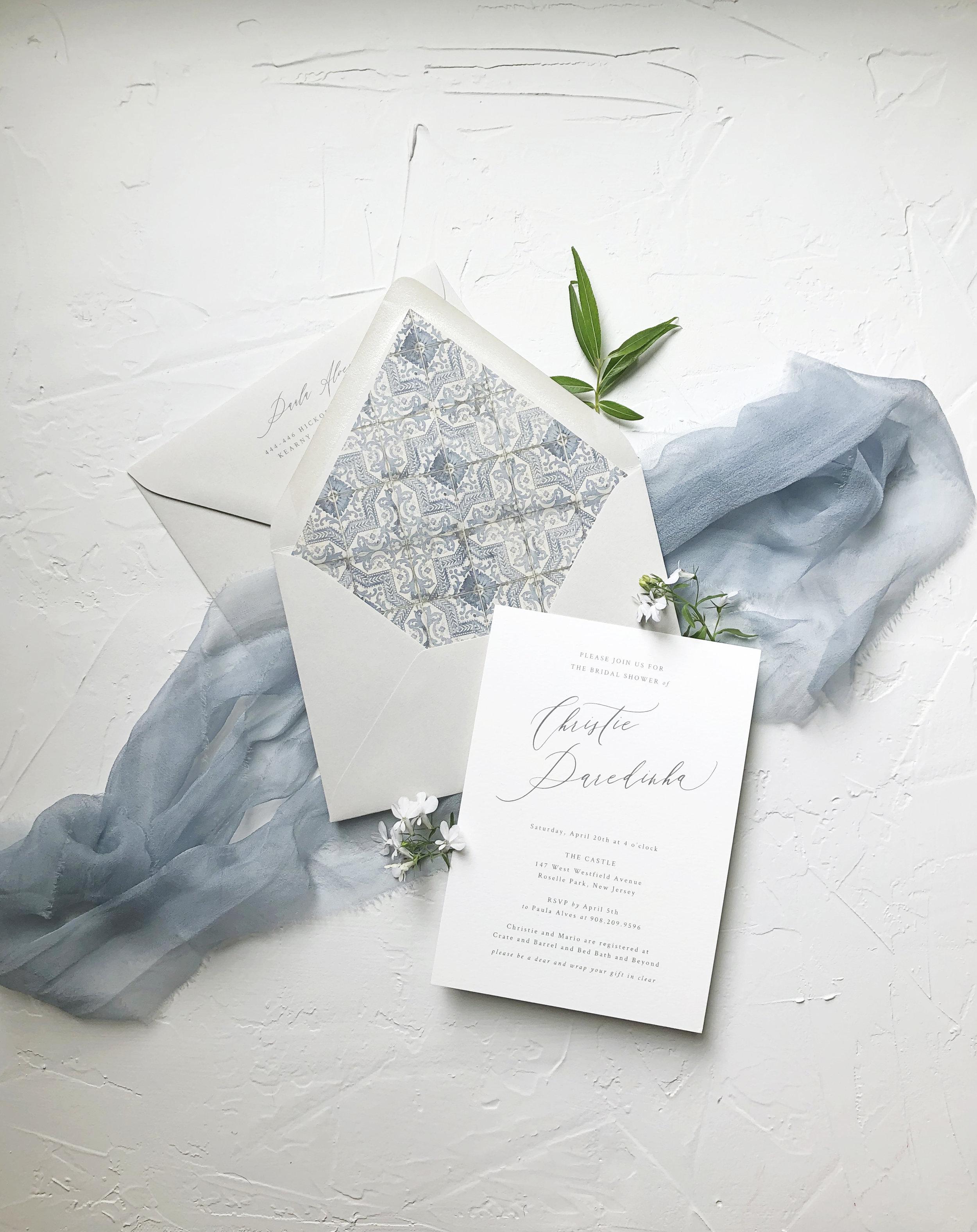 Spanish Tile Bridal Shower Invitation