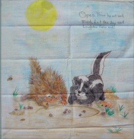 Porcupine and Skunk on Fabric.jpg