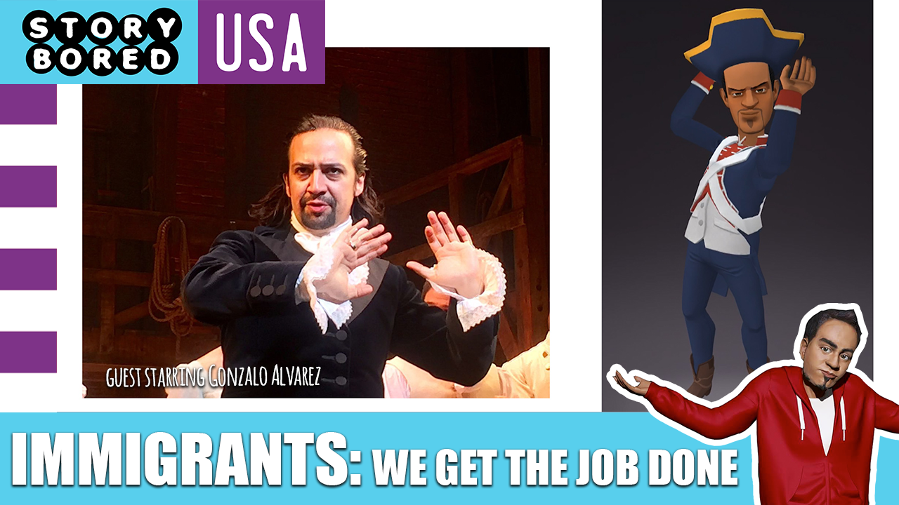 """This country, and its creative spirit, is shaped by the countless waves of immigrants who have landed upon its shores. By examining the Broadway musical """"Hamilton,"""" artists of colors are encouraged to add their voices to the American narrative while gaining a new level of respect for the countless individuals who come to this country in search of freedom and opportunity.  This episode's creative coach is  Gonzalo Alvarez , a talented illustrator and video game designer."""