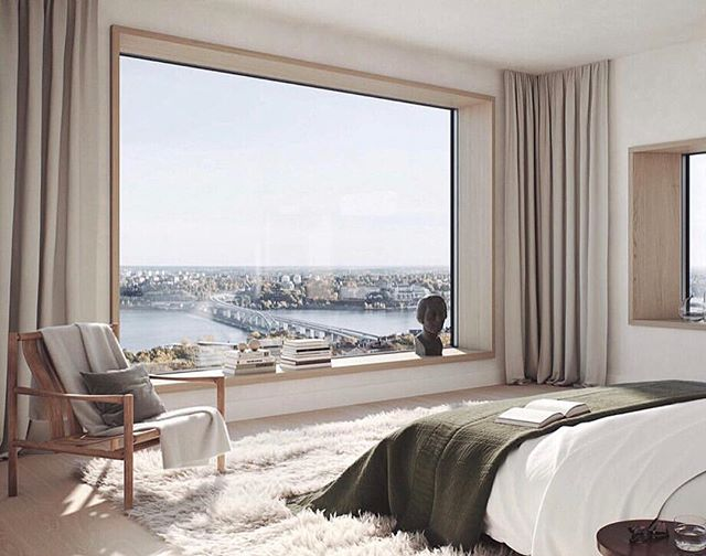 """ok just changed the """"close your eyes and pretend you're there"""" to here ☁️ . . . . . . . #interiors #daydream #interiordesign #architecture #takemehere #design #designerlife #designinspo #interiorinspo #minimalism #moderndesign #organicmodern #scandinavianstyle #interiorstyling #roomwithaview #bedroomgoals #masterbedroom #bedroomdesign #dreamy #nycdesigner #nycdesign #decor #luxeliving #studioseva"""