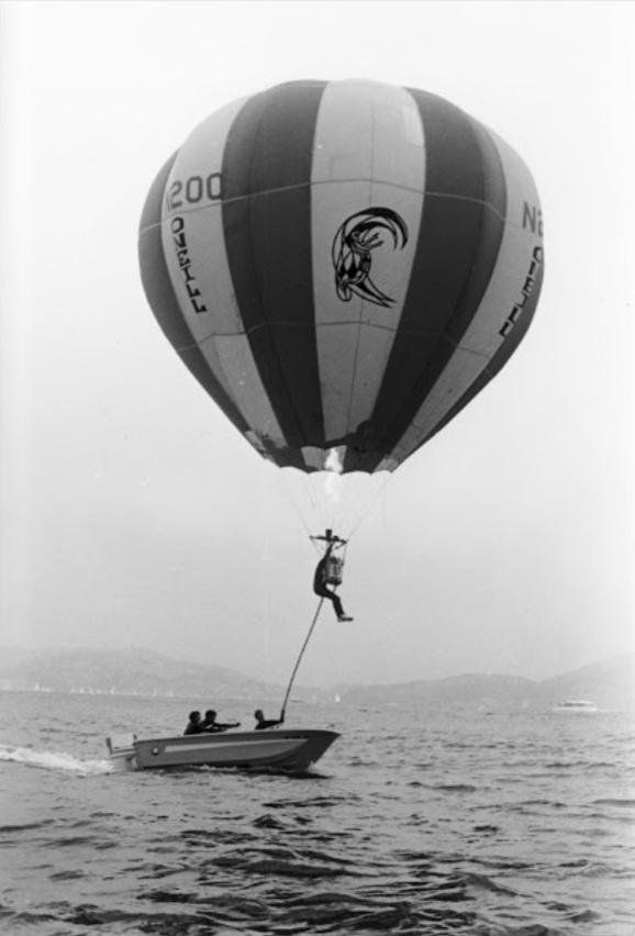 Jack lifts off while hot-air balloon sailing