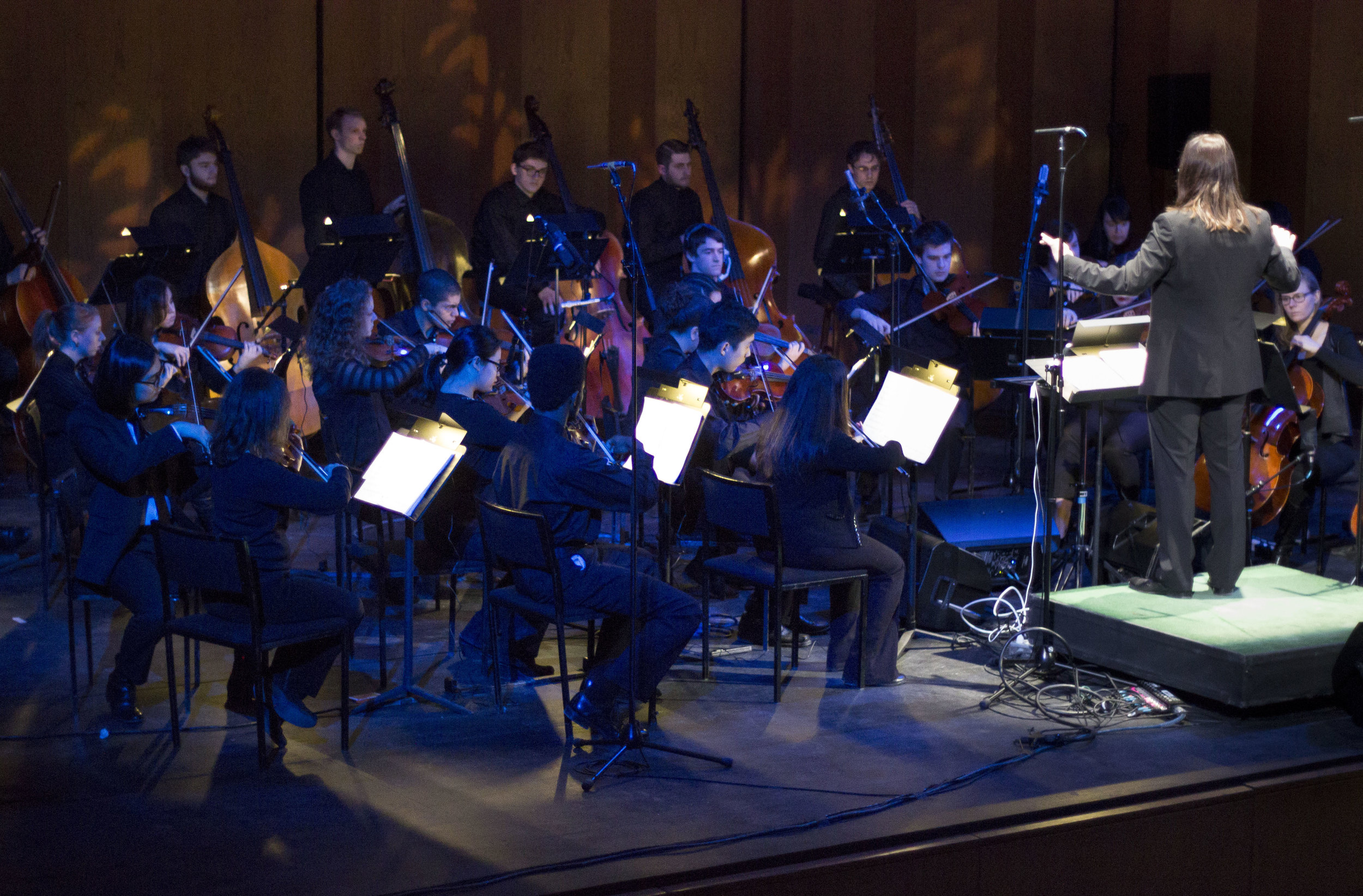 "Purchase College Orchestra Electric! performs ""Stage I (Litany) from  Recurrent Stages , Jakub Ciupinski conductor, at the Performing Arts Center, Purchase, NY"