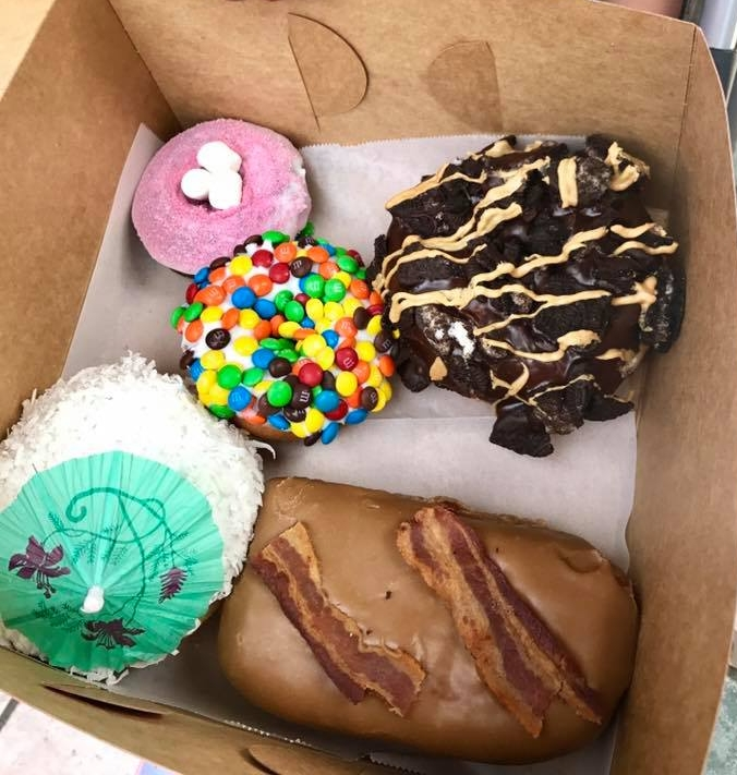 Our variety of Voodoo Doughnut delectable and creative treats. Difficult to narrow down our choices!