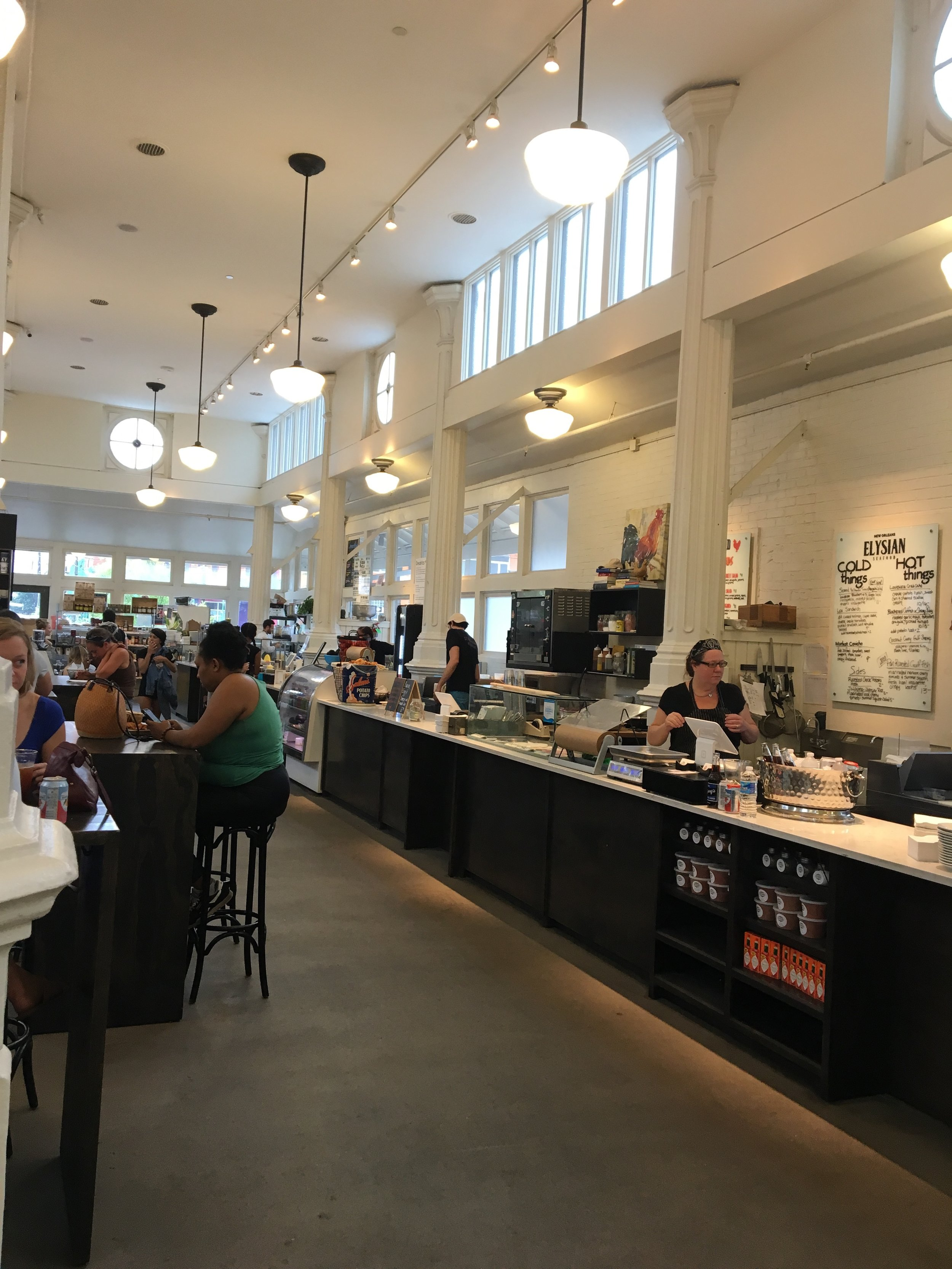 I loved the open, airy, modern atmosphere of St. Roch Market.