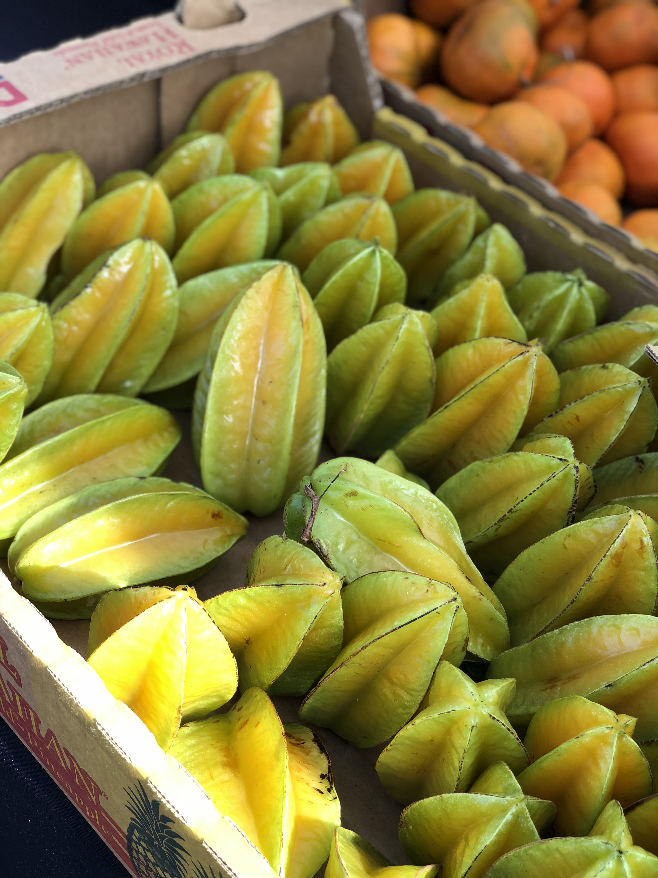 beautiful tropical fruit - Our toddler especially loved the starfruit, pictured here, as well as the rambutan.