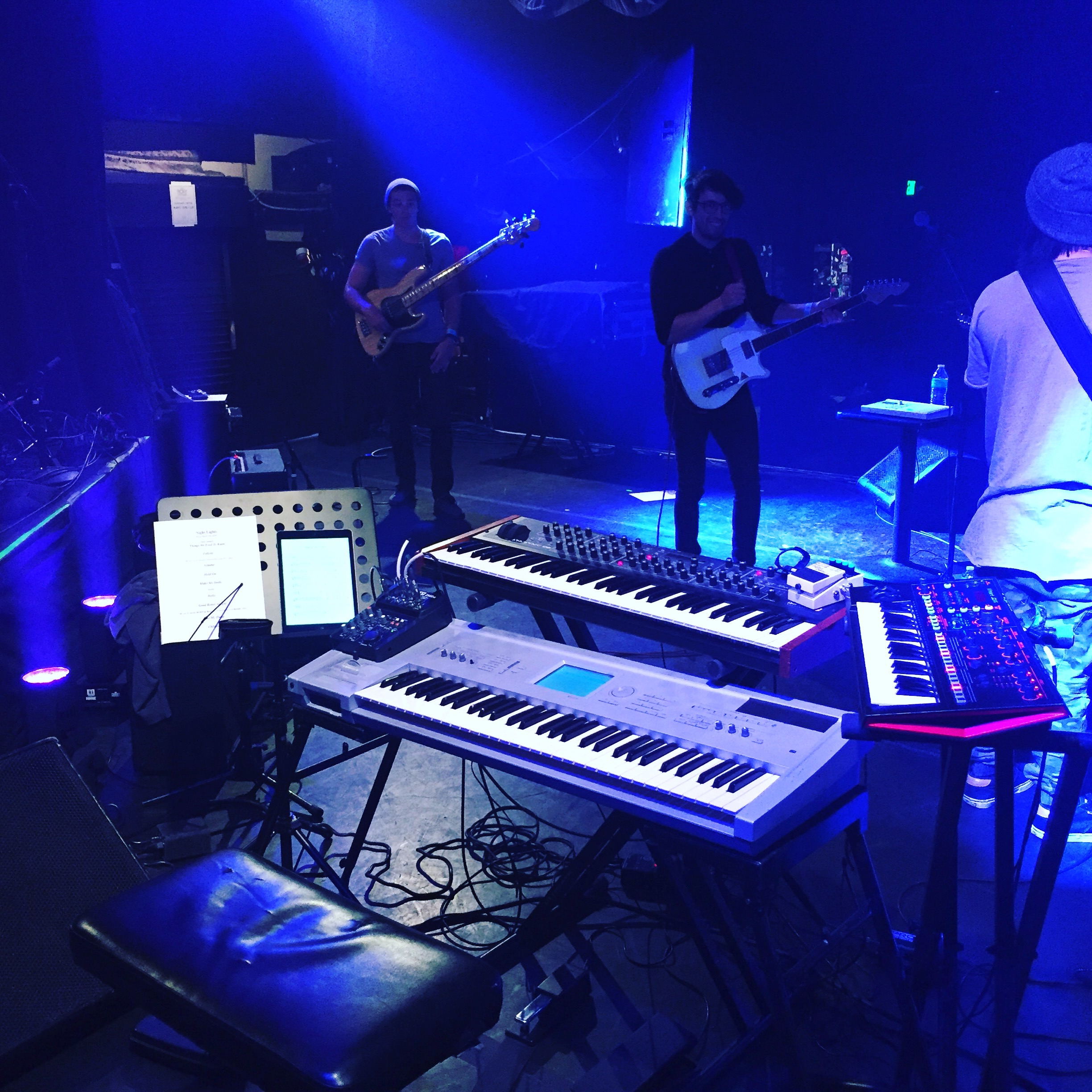Soundcheck with Night Lights opening for MAKO at the Roxy Theater. Los Angeles, CA 2017.