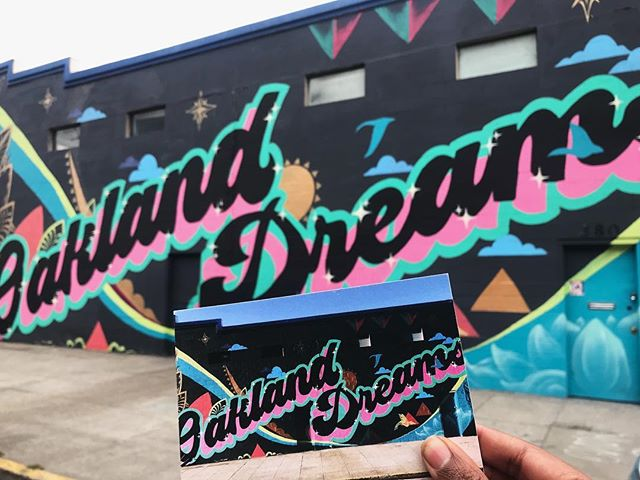 """Just working to put the things we love in #Oakland on the map 🗺 5/9 """"Oakland Dreams"""" by @trustyourstrugglecollective"""