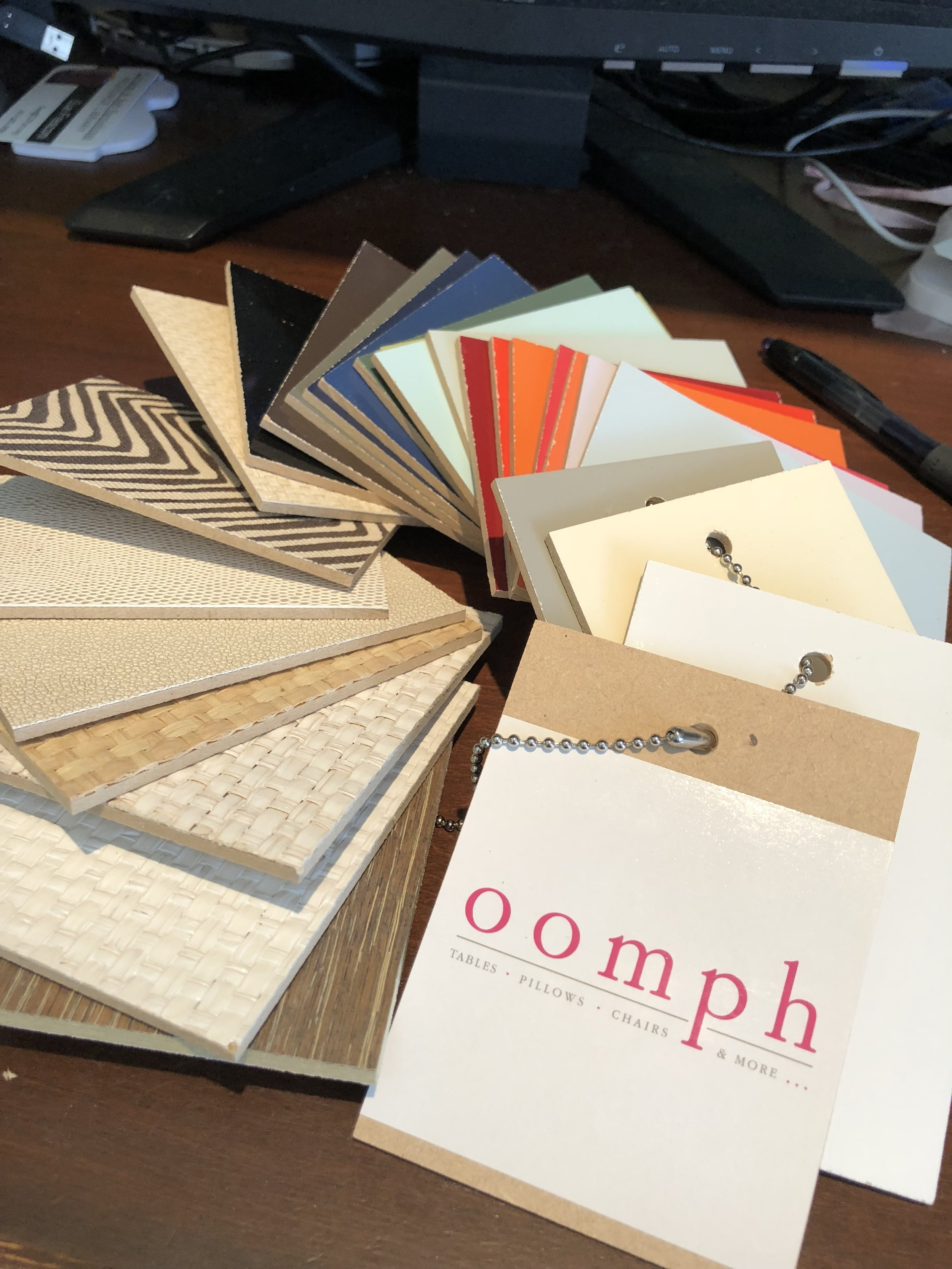 Just got finish samples from Oomph today. Aren't they fun?