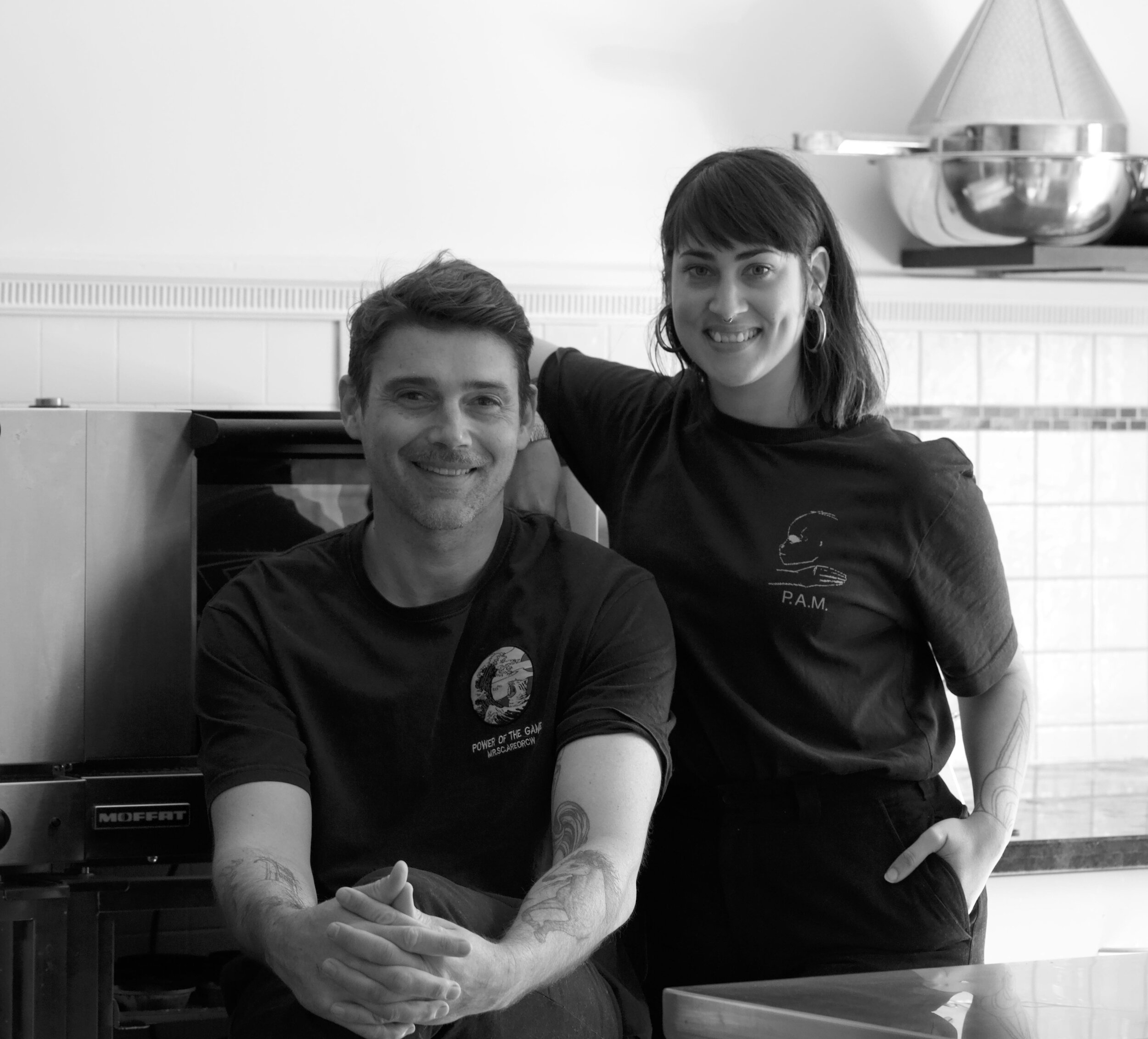 Co-founders Paul and Emma.