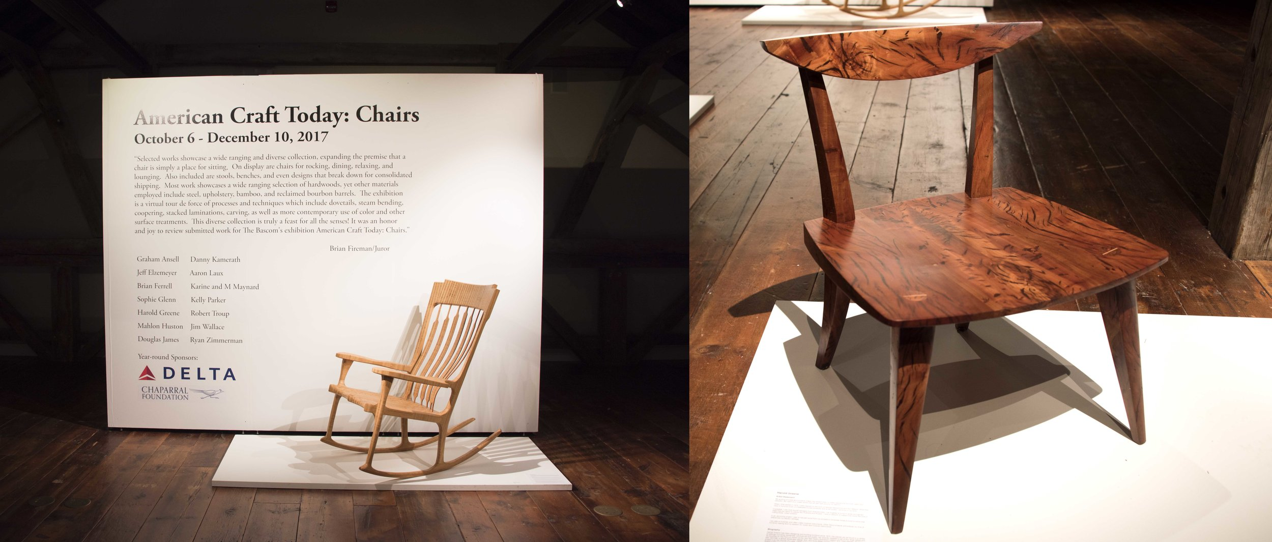 """Currently showing at The Bascom in North Carolina. Pepper Chair #2 was selected as part of a group exhibit called """"American Craft Today: The Chair"""". thebascom.org for more info"""