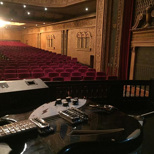 Flash back 10 days when I was stringing up my guitar in a location somewhat fancier than normal... #theboss #tributeband #livemusic #regenttheater