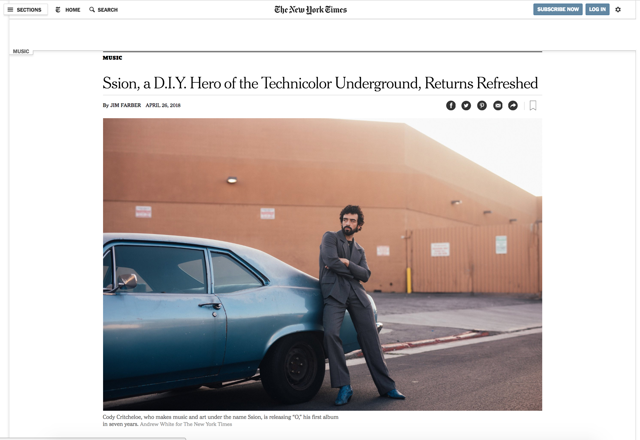 SSION feature in New York Times