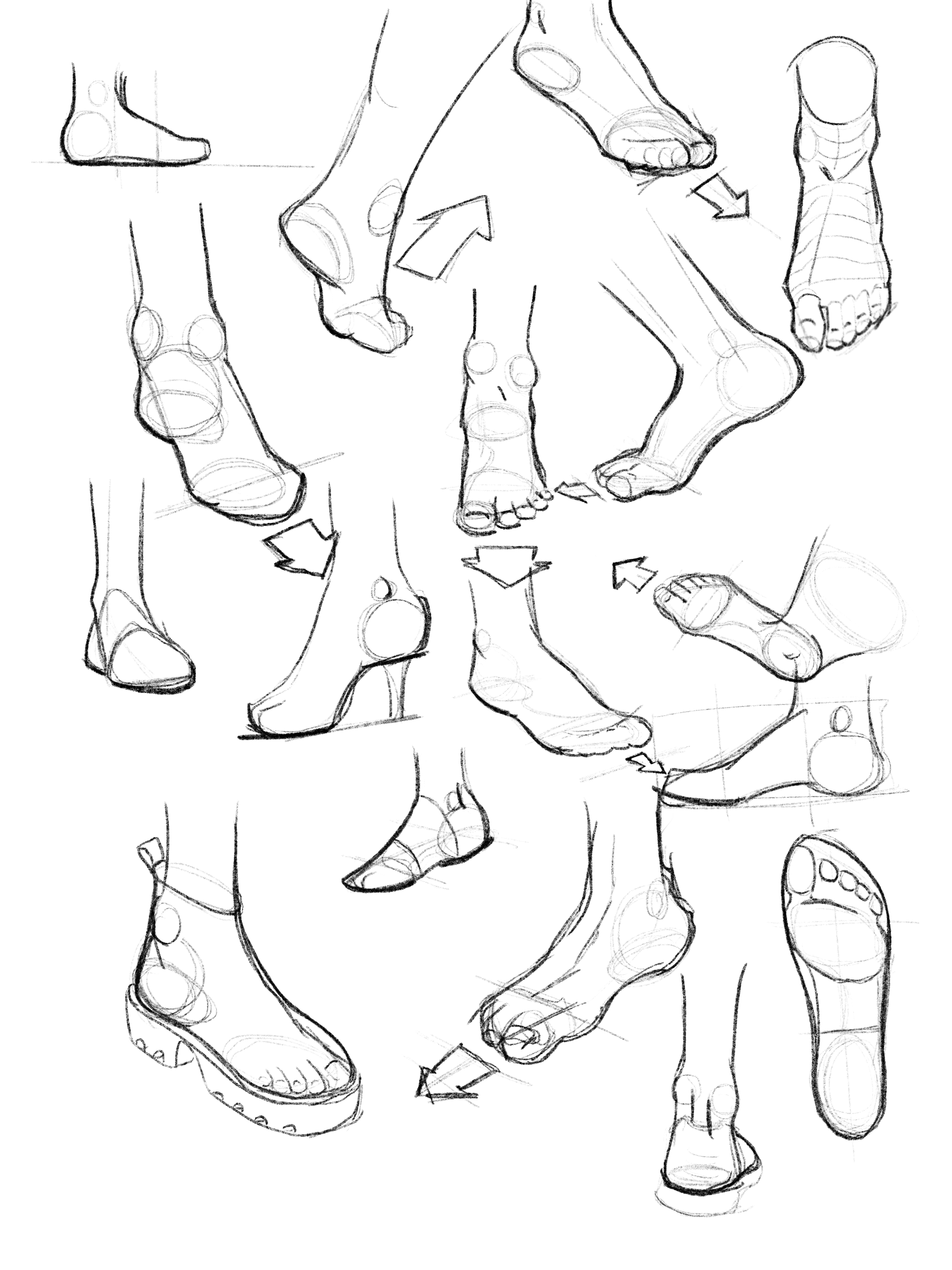 understanding shoe design - To speak the language of this product realm, I studied drawings of feet and types of shoes, researched terminology for shoe types, parts, manufacturing, and historyandinterviewed people of varying fashion sense and background on their relationship to shoes, buying habits and style.