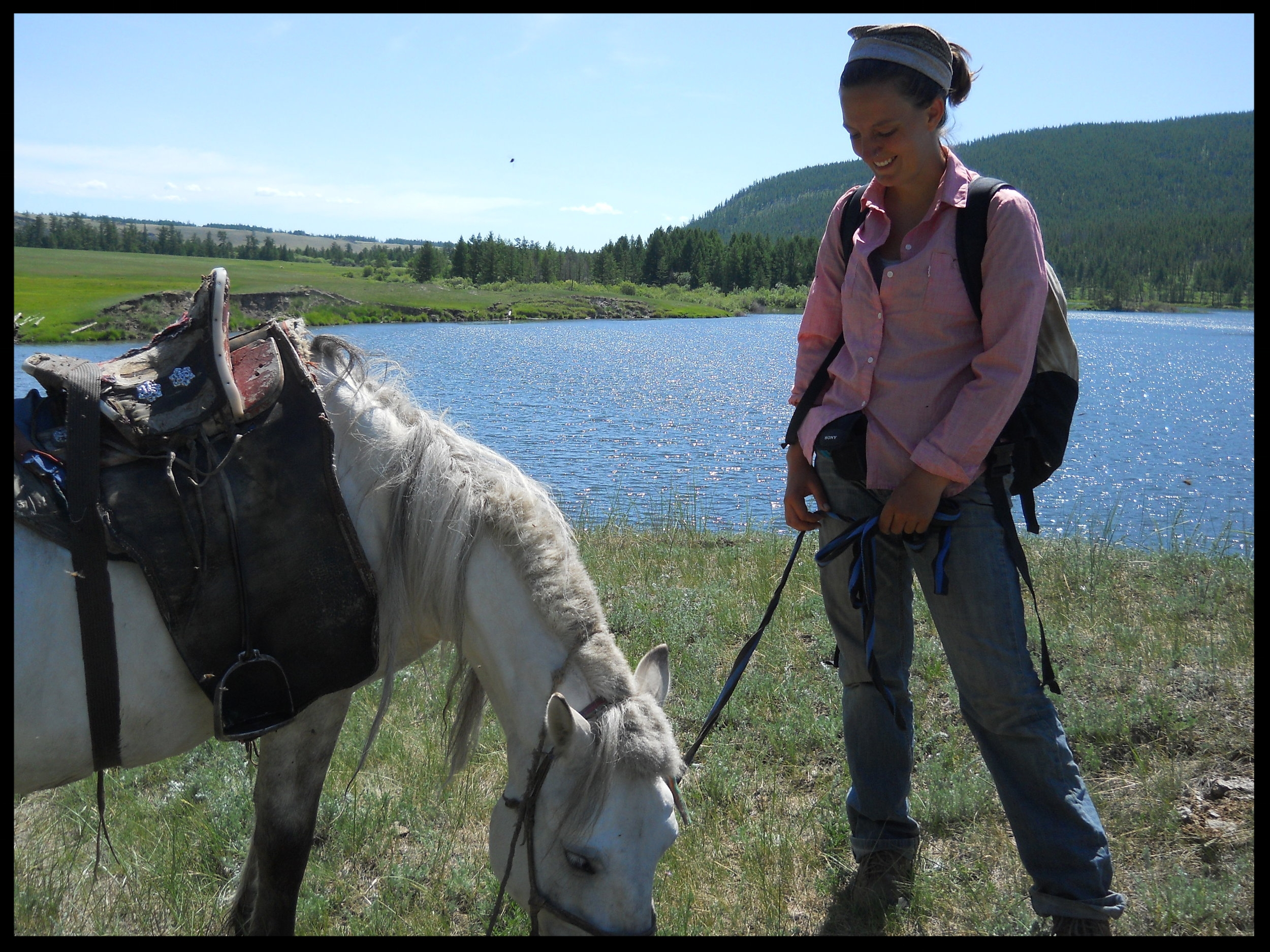 Director,Dr. Julia Clark, is interviewed by the UB Post in Mongolia -