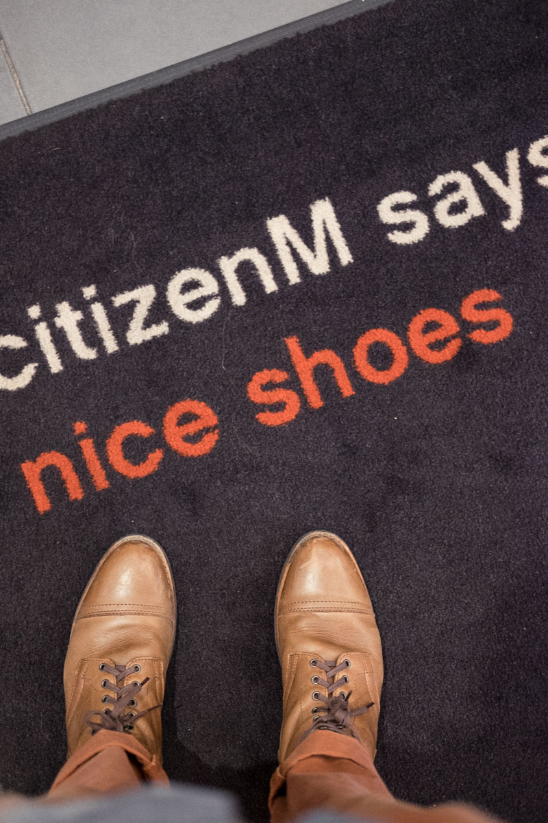 citizenm glasgow nice shoes