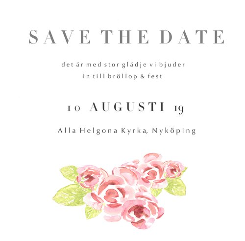 Invitation Cards Digital Download Anna Hedeklint Design