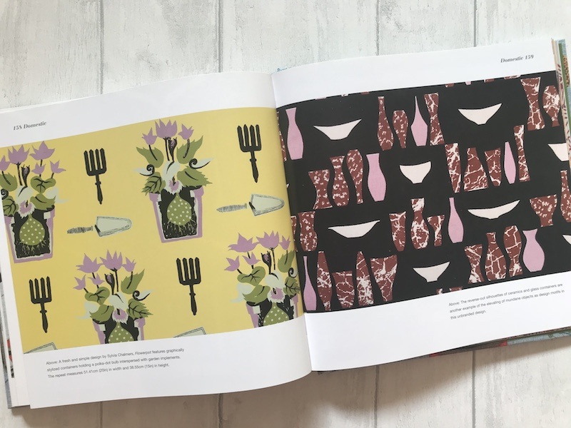 Home & garden themes (including florals) feature in the chapter on Domestic motifs