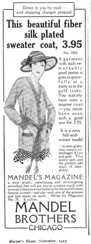 Fiber silk featured in Harpers Bazaar, 1915