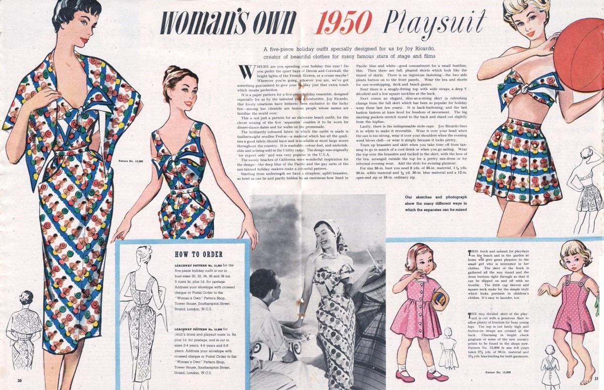 The original article in Woman's Own magazine, May 1950.