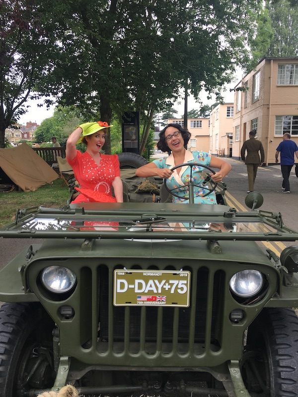 "When the ""Military Police"" invited Rowena and me to sit in the vintage jeep, obviously we couldn't resist some shenanigans!"