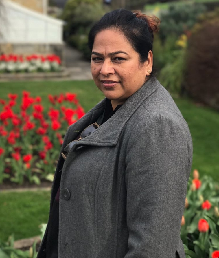 Seema at the Royal Tasmanian Botanical Gardens in Australia