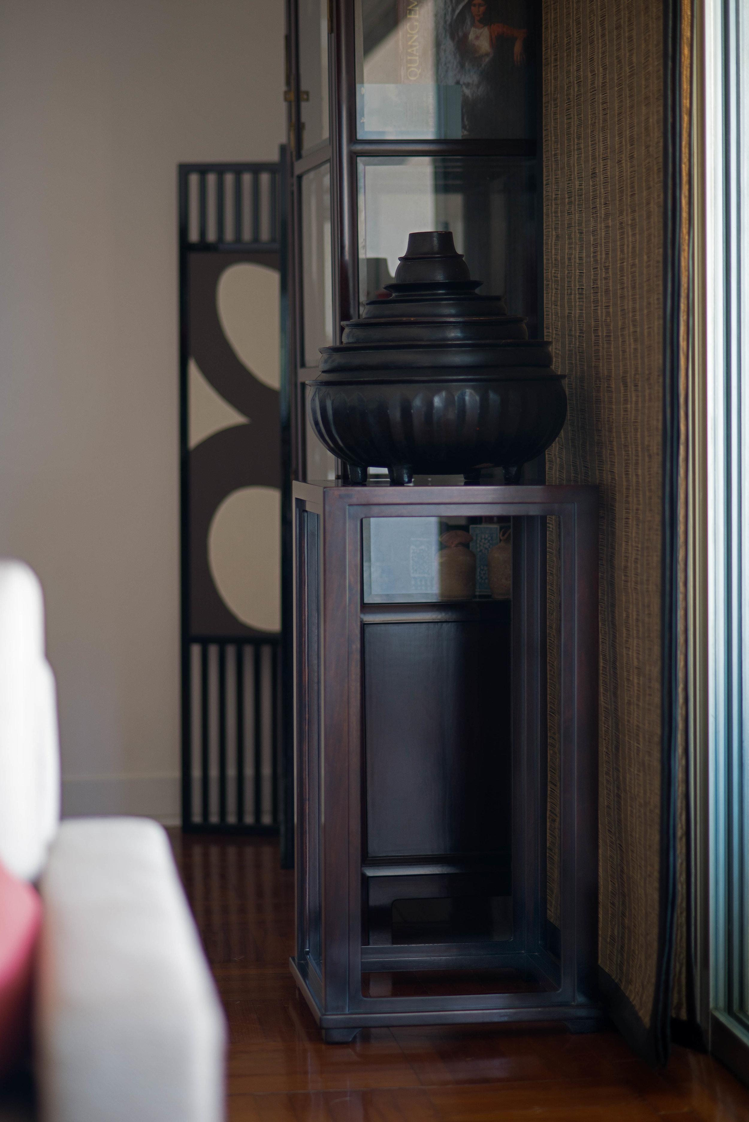 ....bespoke chinese ming style furniture : stand ..特别定制中式明式家具 : 花几....