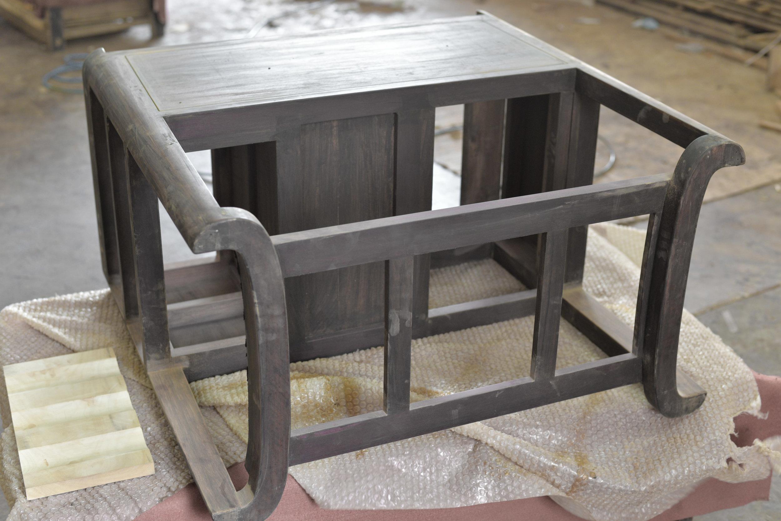 ....modern furniture | mandarin oriental tea art trolley crafting photo..现代家具 | 文华东方茶艺车制作照片....