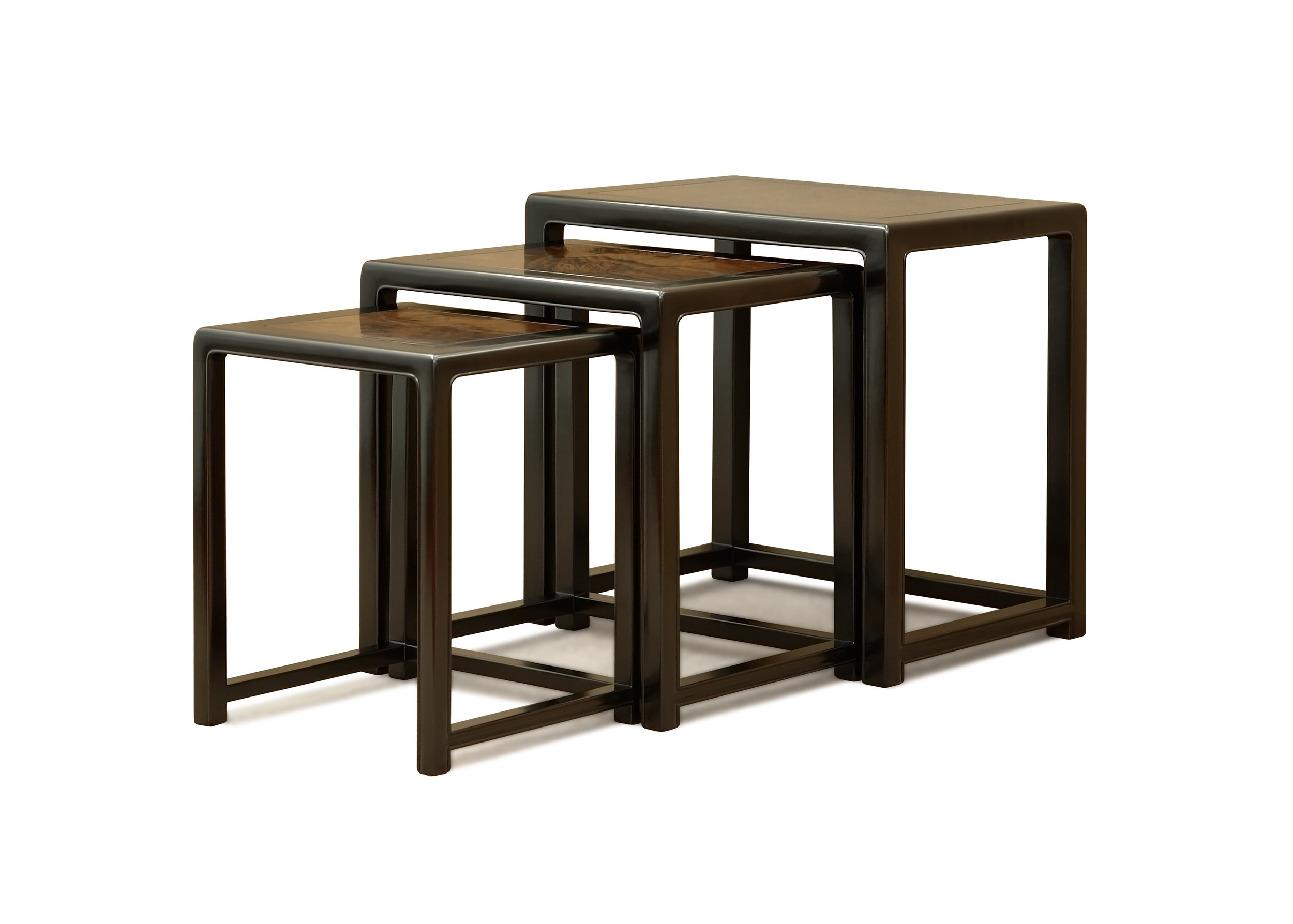 ....Ming Style Chinese furniture : Nested Tables..明式中式家具: 层叠台....