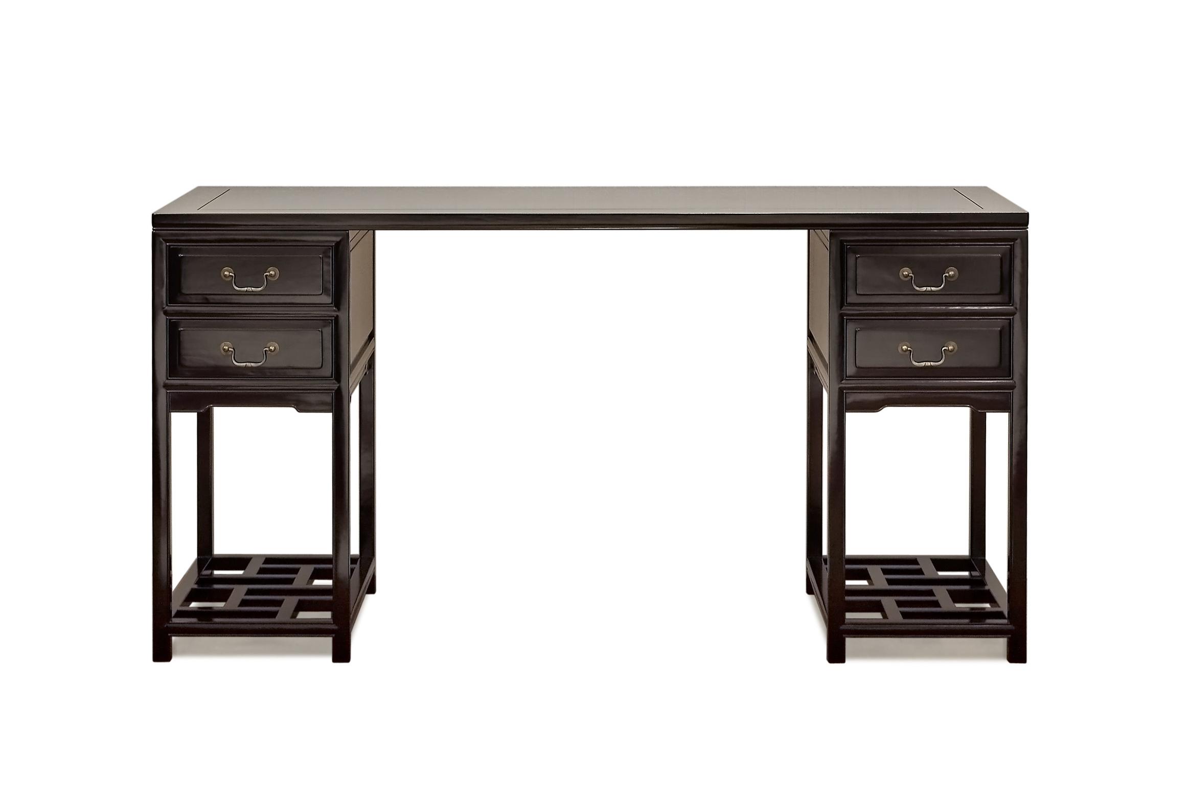 ....Ming Style Chinese furniture : Trestle Desk..明式中式家具: 医生书桌....