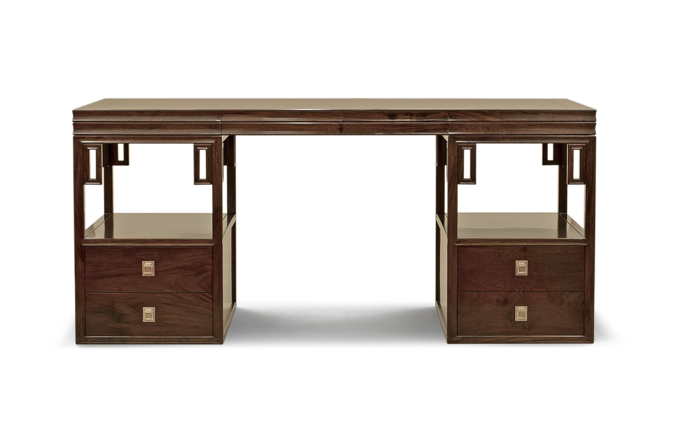 ....Bespoke Ming Style Chinese furniture : Trestle Desk..特别定制明式中式家具: 台架式书桌....