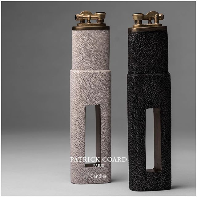 Gimme More 😍 Détail« Lighters » 🔥New addition to the Candle family. #shagreen #multiple #sizes Invitation New York: From the 12th August Kifu Paris Showroom, Suite 410, NYDC New York Design Center Paris 6-10th September: Maison & Objet Parc des Expositions, Hall 7 G10  For personal meetings please email kifu@kifuparis.com #lighter #gift #christmas #light #natural #brass #shell #highpoint #lighter #scandinaviandesign #paris #eyecandy #patrickcoardparis #fashion #patterns #mixmedia #architectural #architecturallight #nydc #newyork #shagreen