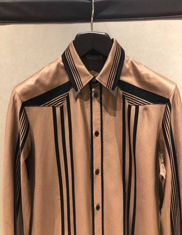 Bottega Veneta Western shirt.. - ...with metal collar tips. Quite pro-darts player- which is only a good thing.