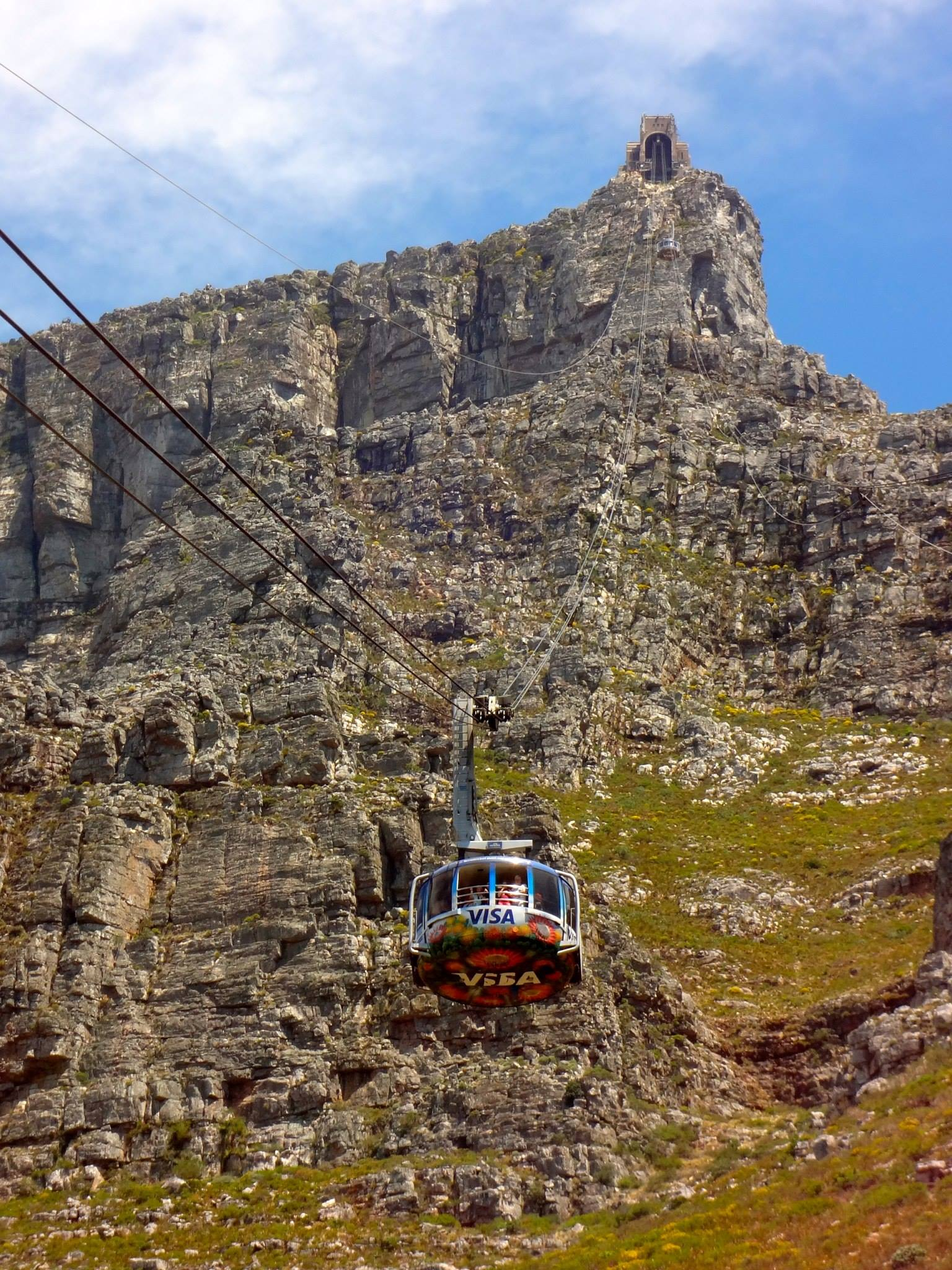 Cable car at the Table Mountain