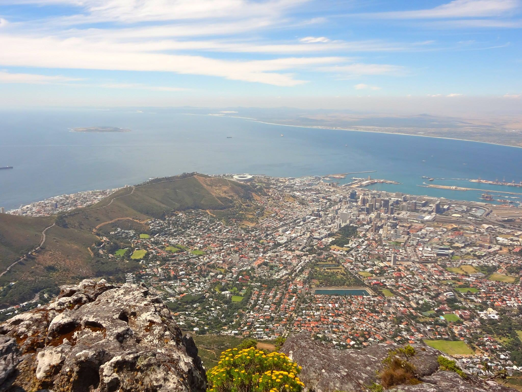 View from the top of the Table Mountain
