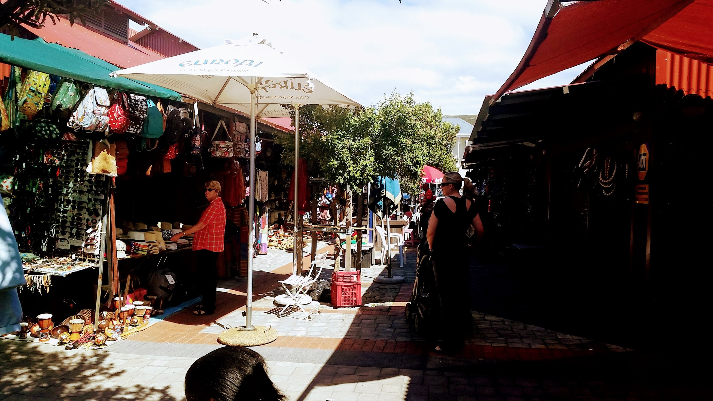 Craft market in Hermanus, South Africa