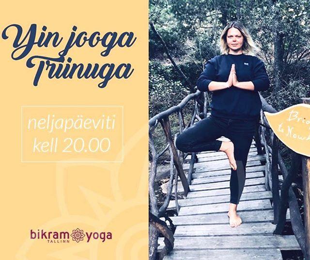 Yin jooga tunnid Triinuga on tagasi Tallinnas! Ühine meiega neljapäeviti kell 20:00 @bikramyogatallinn soojas stuudios 🧘♀️ • #yoga #jooga #tallinn #yin #meridiaanid #tcm #estonia #eesti #yogainenglish #yogaenglishtallinn #joogaeestikeeles #yinwithtriin #lemmik