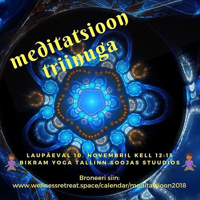 Sel laupäeval algab uus meditatsiooni ja enesehüpnoosi seeria. Bikram Yoga Tallinn soojas stuudios on mõnus lõõgastuda ja aega enesega veeta. Kuupäevad ja detailid leiad siit: www.wellnessretreat.space/calendar/meditatsioon2018 • #meditatsioon #tallinn #eesti #hüpnoos #yinwithtriin #jooga