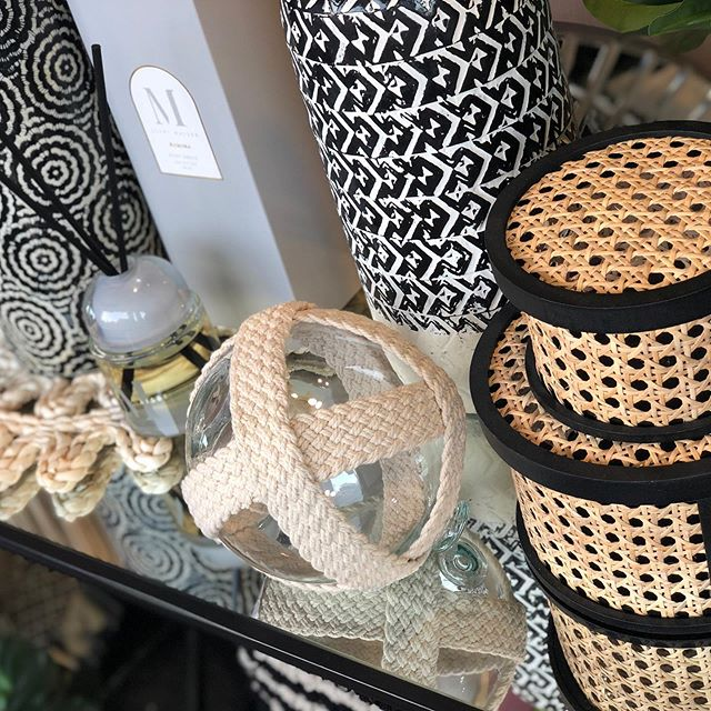 New Homewares in rattan an copper. Can fit with Boho and Hampton's styling. 🌊🏖🏡#bohohomeware #hamptonsstyle #hhp