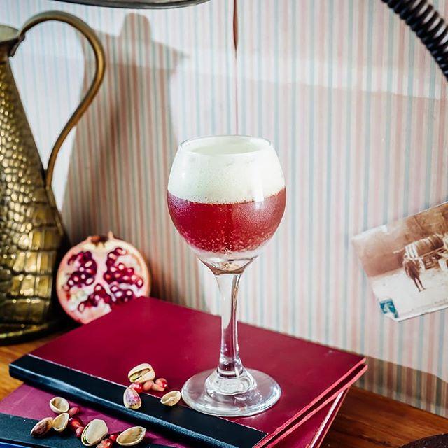 SOMNA: Glendalough Rose Gin - Merlet Soeurs Cerises – pomegranate- pistachio foam