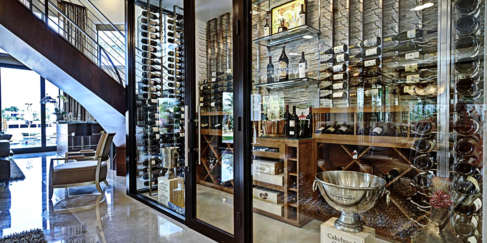 WINE ROOMS  These rooms are perfect for wine lovers.