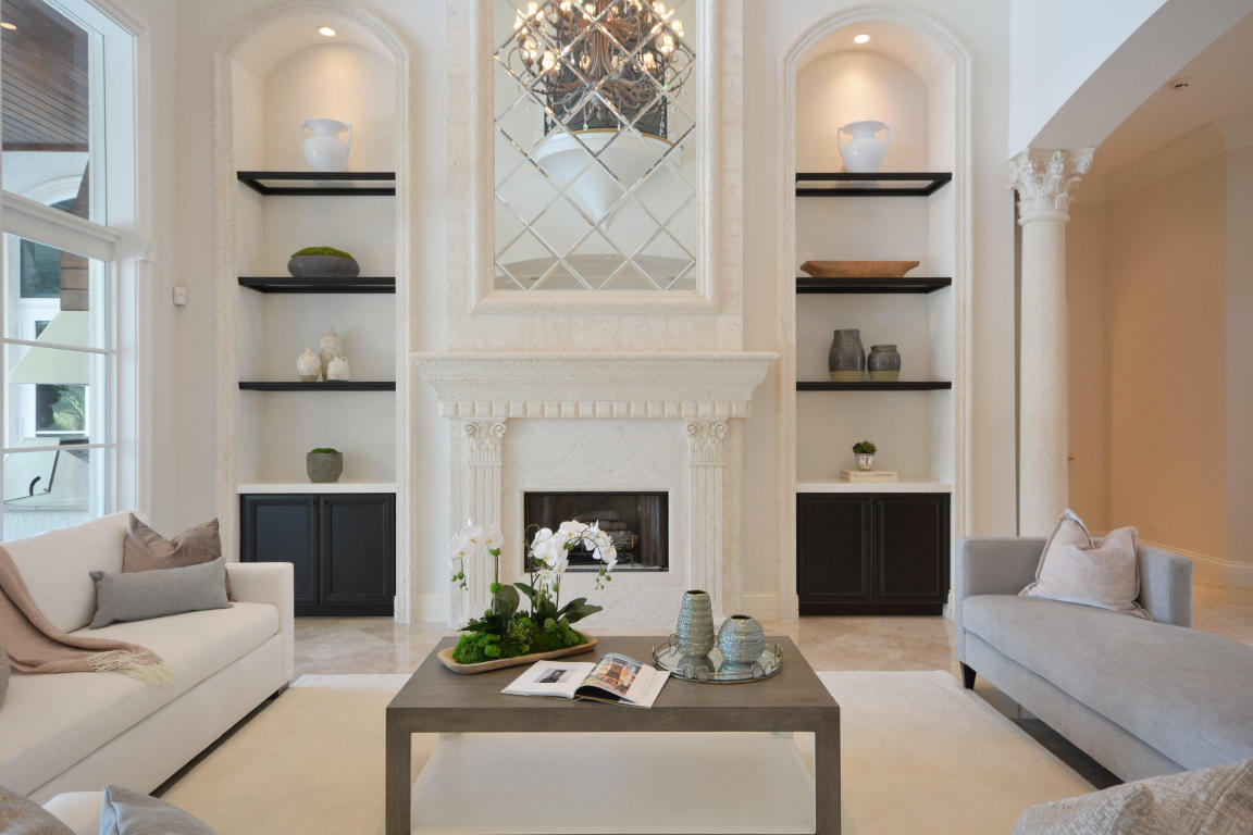 custom fireplace and arches in living room.jpg