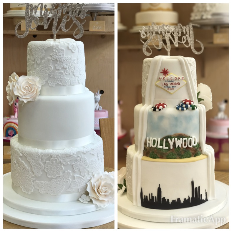 £695  Hollywood Reveal Cake   Enquire