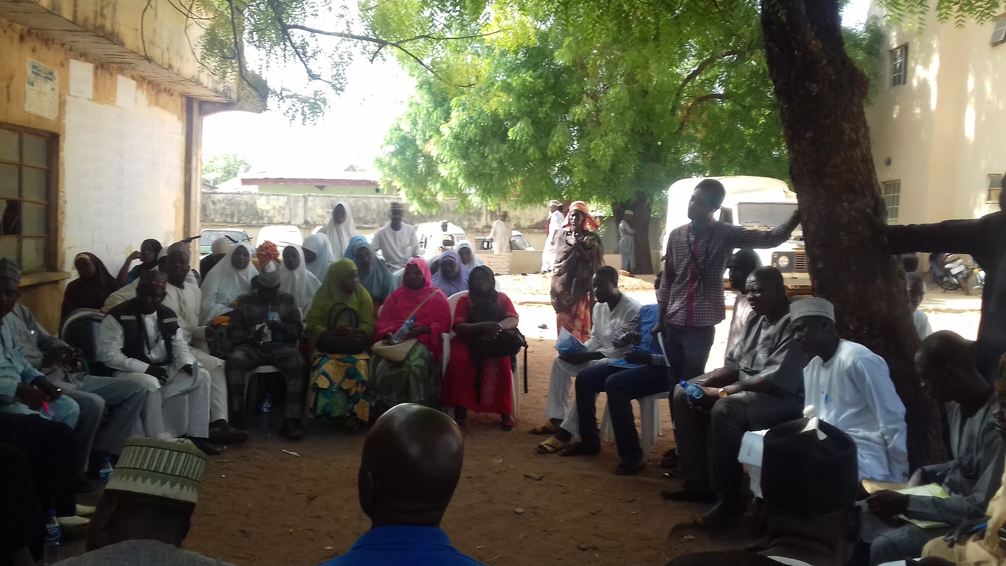 VTS project coordinator, Friday Daniel at a ward- level review meeting in Sokoto state